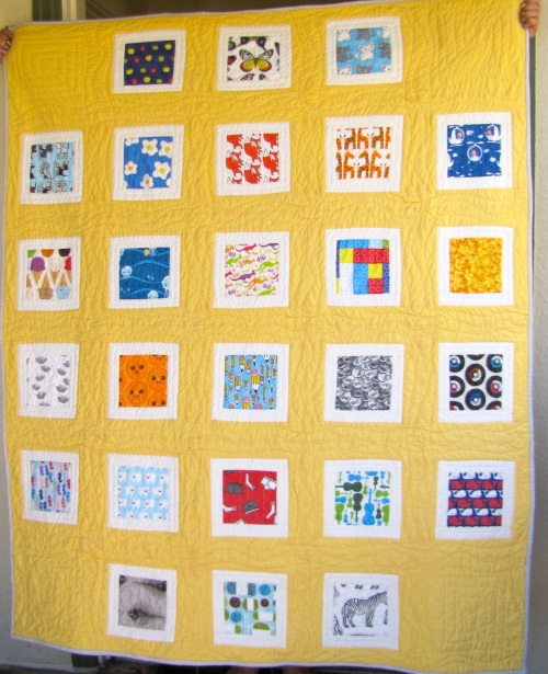 """I Spy"" Alphabet Quilt for Baby Suzie"