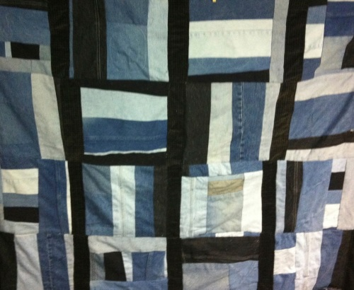 Gee's Bend Inspiration Quilt - made from old jeans from the Woodruff-Long Family