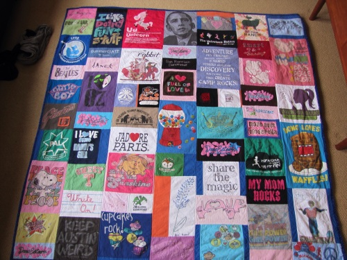 Adrienne's T Shirt Memory Quilt
