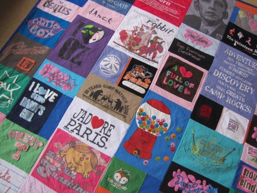 Adrienne's T Shirt Memory Quilt Detail