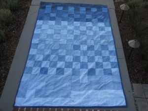 Long Family Recycled Jeans Picnic Blanket