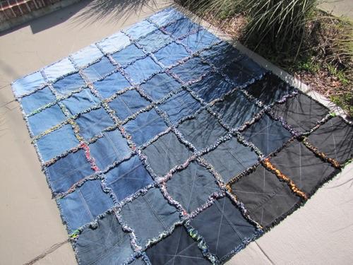 Denim Flannel Rag Quilt