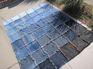 Denim Flannel Rag Quilt