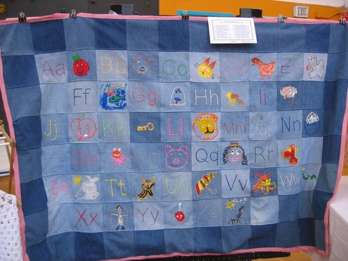 Miraloma Kindergarten Alphabet Friends Quilt