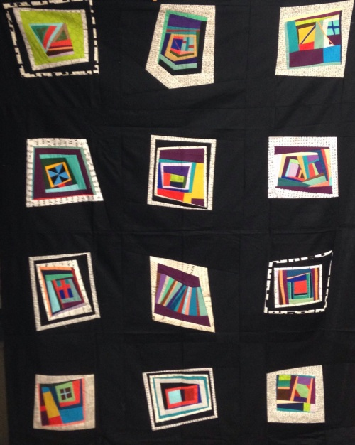 San Francisco Waldorf Auction - Wonky-Scrappy Log Cabin Quilt