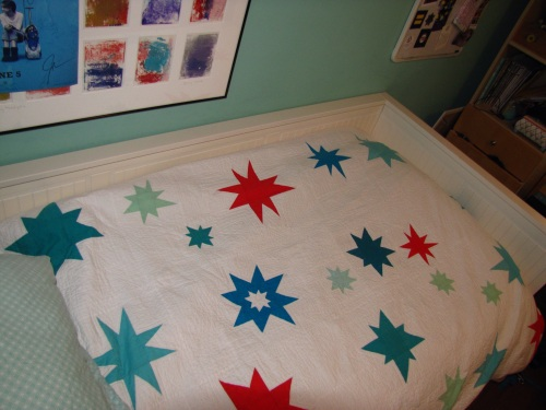 Star Quilted Duvet Cover for Adrienne
