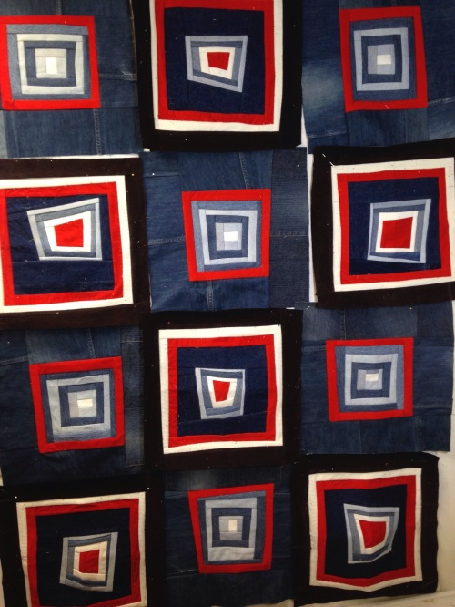 Denim Corduroy Scrap Quilt