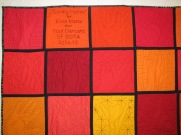 A great quilt-as-you-go project - the whole quilt is reversable!