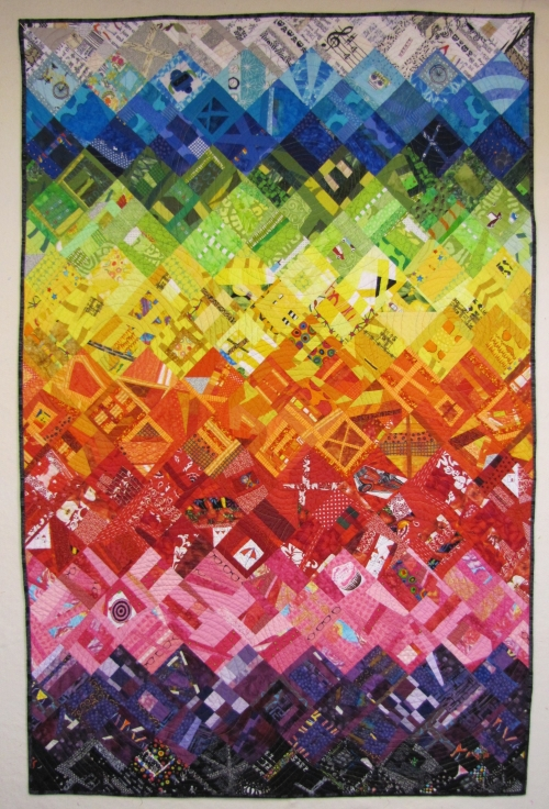 Scrappy Jewels Quilt - Honorable Mention San Francisco Quilt Guild Show 2015