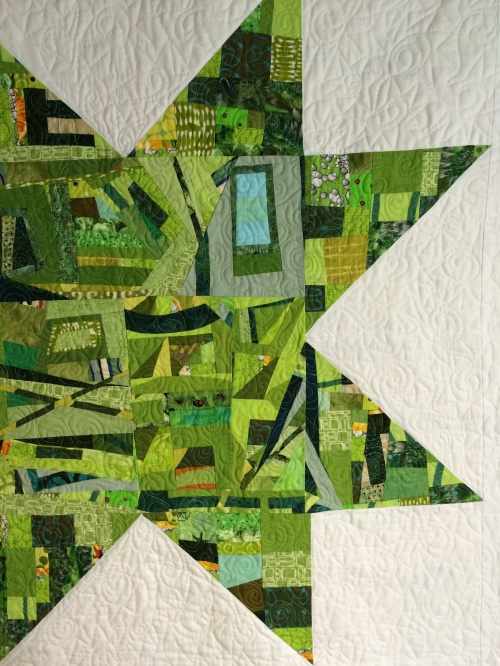 Green Scrappy Star Detail
