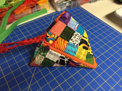Quilted Samosa Bag