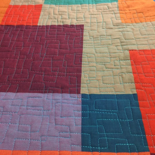 Modern Disappearing Nine-Patch Quilt Detail