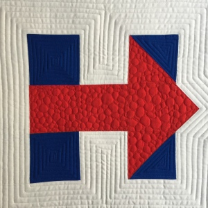 Hillary Logo Quilt Block