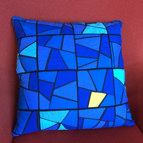 Berlin Stained Glass Pillow -Front