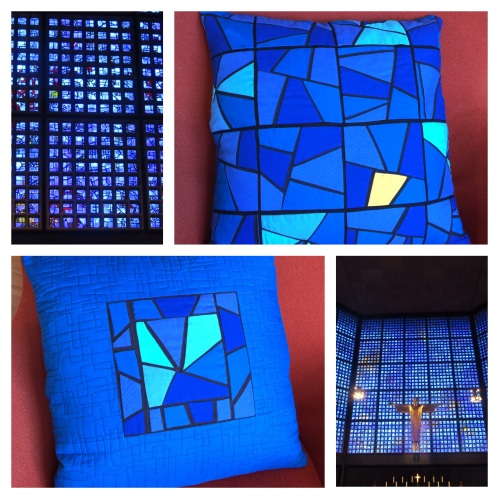 Pillow inspired by the stained glass windows of Kaiser Wilhelm Memorial Church - Berlin, Germany