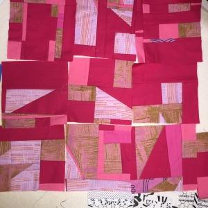 Pink scrap blocks
