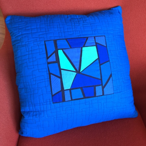 Berlin Stained Glass Pillow -back