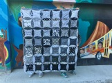 Hipster Wedding Quilt B&W